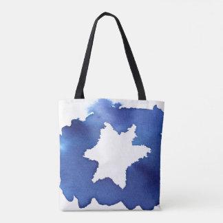 Bolso De Tela La estrella azul de la acuarela de David resiste