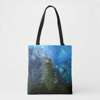 Bolso De Tela La gran lámpara marina de la lava del tiburón