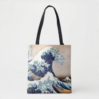 Bolso De Tela La gran onda de Kanagawa