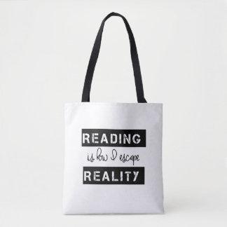 Bolso De Tela La lectura es cómo escapo realidad