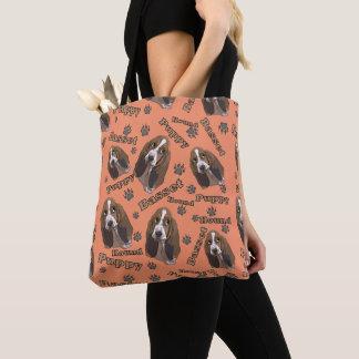 Bolso De Tela La pata linda de Basset Hound imprime el modelo