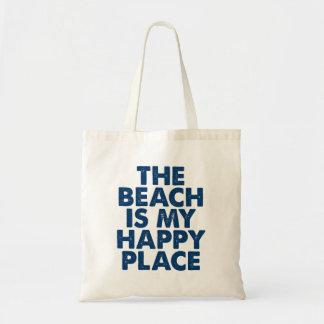 Bolso De Tela La playa es mi tote feliz del lugar