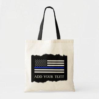 Bolso De Tela La policía diseña personalizado de la bandera
