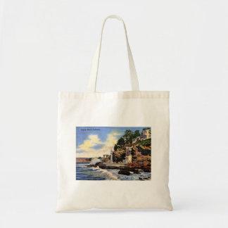 Bolso De Tela Laguna Beach, California, opinión del vintage