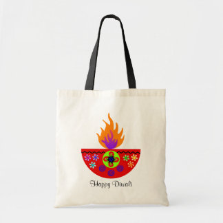 Bolso De Tela Lámpara colorida Diya de Diwali