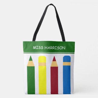 Bolso De Tela Lápices de los días escolares personalizados