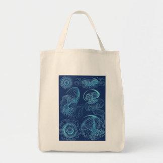 Bolso De Tela Leptomedusae de Ernst Haeckel (azul marino)