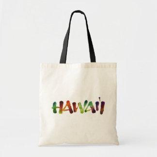 Bolso De Tela Letras de Hawai'i - diversión colorida de la playa