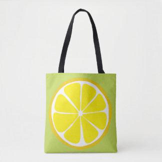 Bolso De Tela Limón de la fruta cítrica del verano en el tote de