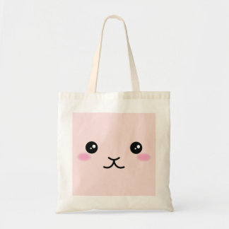 Bolso De Tela Lindo, kawaii, diseño rosado del conejito