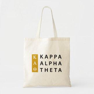 Bolso De Tela Logotipo apilado el | alfa de la theta de Kappa