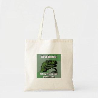 Bolso De Tela Los dinosaurios leyeron los libros