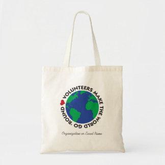 Bolso De Tela Los voluntarios hacen que el mundo va 'redondo con