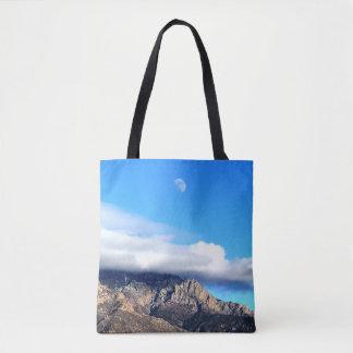 Bolso De Tela Luna y nubes sobre Sandias