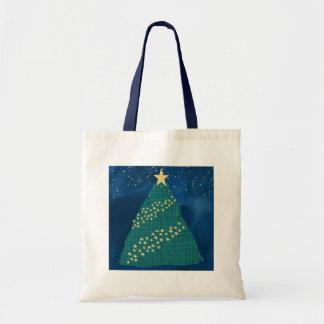 Bolso De Tela Luz de oro del navidad