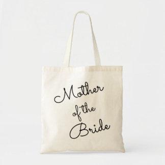 Bolso De Tela Madre del tote de la novia, cursiva