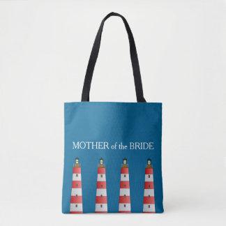 Bolso De Tela Madre moderna del boda de playa del faro de la