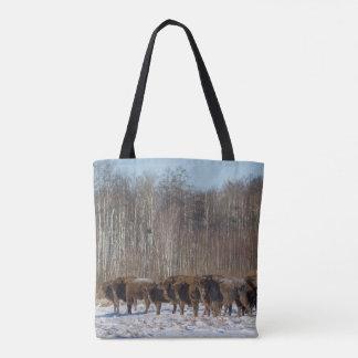 Bolso De Tela Manada del bisonte