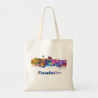 Bolso De Tela Manchester NH skyline in watercolor