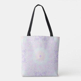 Bolso De Tela Mandala en colores pastel del amor suave (grande)