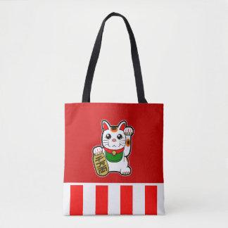 Bolso De Tela Maneki Neko: Gato afortunado japonés