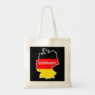 Bolso De Tela Mapa y bandera alemanes