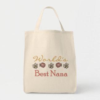 Bolso De Tela Margaritas y mundos la mejor Nana de los rosas