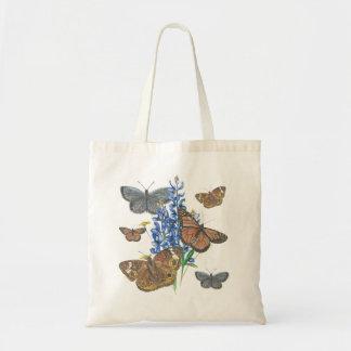 Bolso De Tela Mariposas y Bluebonnets
