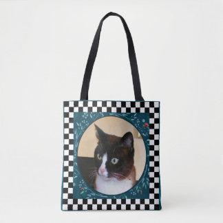 Bolso De Tela Mariquitas de observación del Gatito-Gato curioso