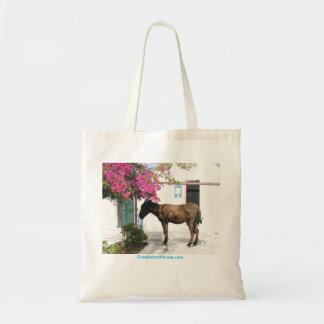 Bolso De Tela mascota del burro de GreekIslandHouse.com