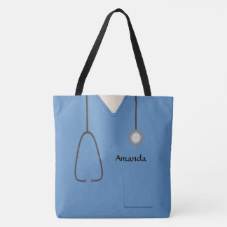 Bolso De Tela Médico friega a la enfermera AOPM azul