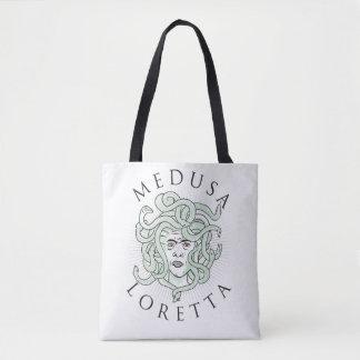 Bolso De Tela Medusa Loretta -- Tote 1