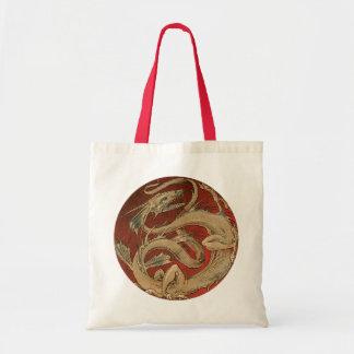 Bolso De Tela Mitología del vintage, dragón asiático de oro