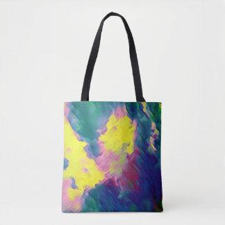 Bolso De Tela Modelo abstracto multicolor festivo vibrante