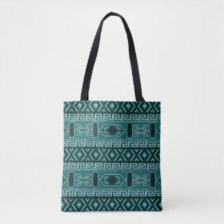 Bolso De Tela Modelo azteca tribal del sudoeste de la turquesa
