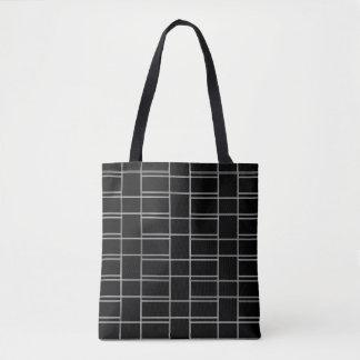 Bolso De Tela Modelo blanco y negro del rectángulo que entrelaza