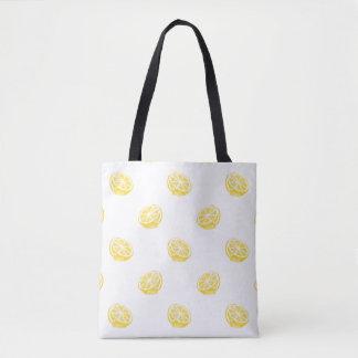Bolso De Tela Modelo del limón de la acuarela