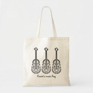 Bolso De Tela Modelo elegante del violín