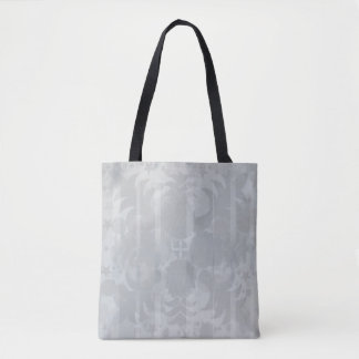 Bolso De Tela Modelo floral del gris de plata del vintage