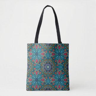 Bolso De Tela Modelo floral étnico abstracto colorido de la
