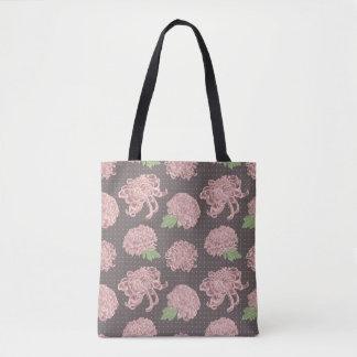 Bolso De Tela Modelo inconsútil rosado suave de Chrysantemum