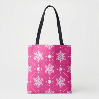 Bolso De Tela Modelo rosado y blanco femenino del navidad de los