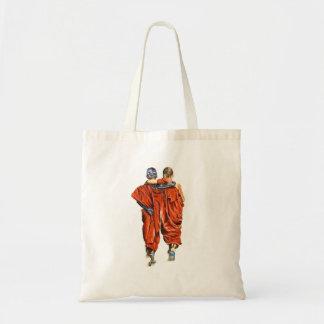 Bolso De Tela Monjes budistas
