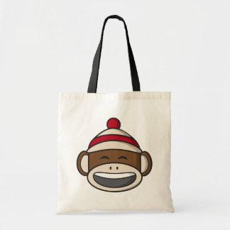 Bolso De Tela Mono grande Emoji del calcetín de la sonrisa
