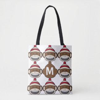 Bolso De Tela Mono grande Emoji del calcetín de la sonrisa con