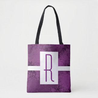Bolso De Tela Monograma manchado púrpura