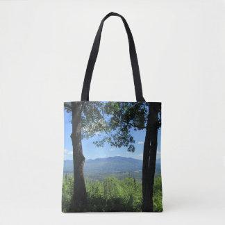 Bolso De Tela Montañas entre dos árboles