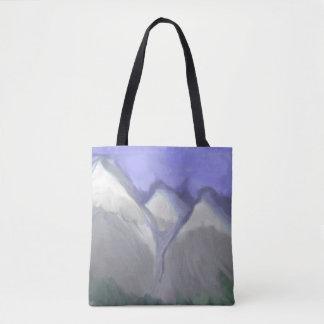 Bolso De Tela Montañas rocosas de Colorado (acuarela abstracta)