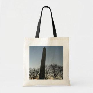 Bolso De Tela Monumento de Washington en foto del viaje del