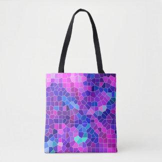 Bolso De Tela Mosaico rosado